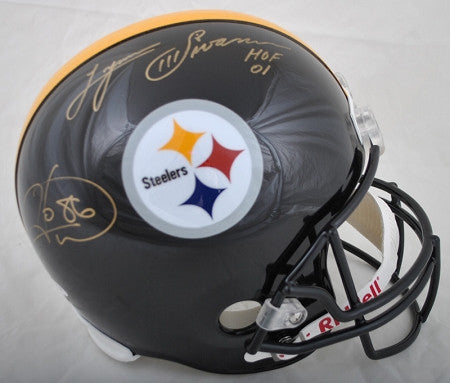 Hines Ward and Lynn Swann Autographed Replica Helmet
