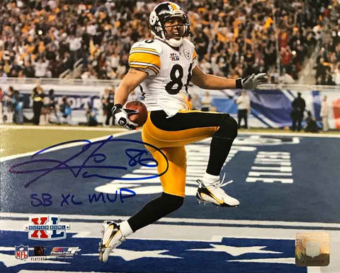 Hines Ward Signed SB XL Leap 16x20 Photo with SB XL MVP