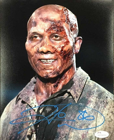 Hines Ward Autpgraphed 8x10 Walking Dead Vertical Photo Signed in Blue
