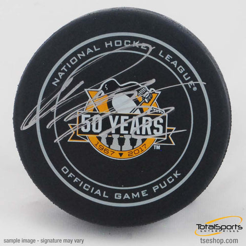 Patric Hornqvist Autographed Game Model 50 Ann. Puck