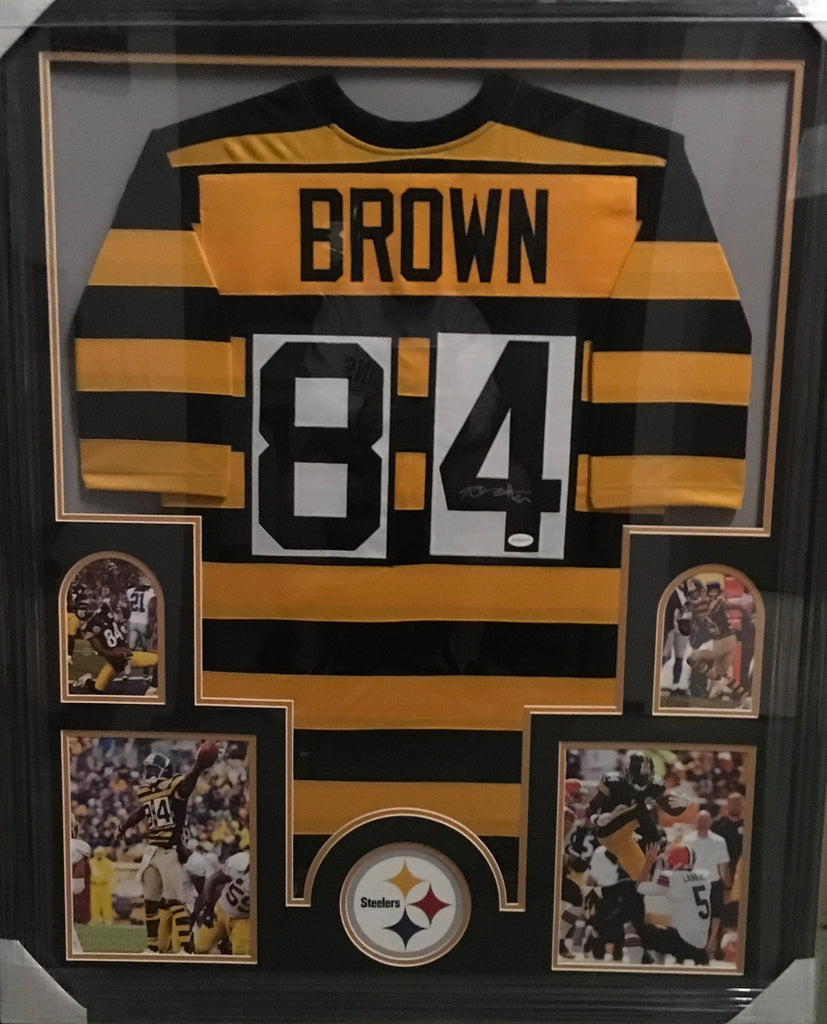 Antonio Brown Bumble Bee Jersey - Professionally Framed