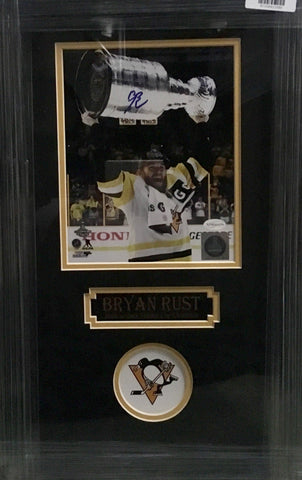 Bryan Rust Signed Raising Cup (2017) 8x10 - Professionally Framed
