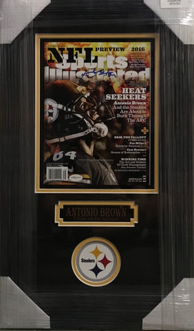 Antonio Brown Signed Sports Illustrated - Professionally Framed
