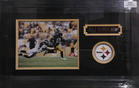 Eli Rogers Running vs. Eagles 8x10 Unsigned - Professionally Framed