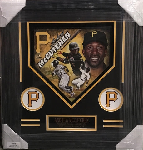 Decorative Andrew McCutchen Home Plate - Unsigned - Professionally Framed