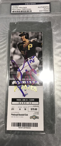 Adam Frazier Signed Pirates Game Ticket 6/24/2016