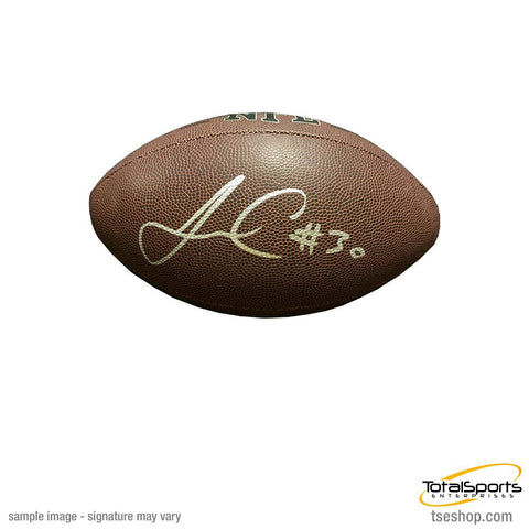 James Conner Autographed Replica Football with #30