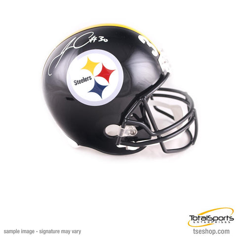 James Conner Autographed Pittsburgh Steelers Full Sized Replica Helmet