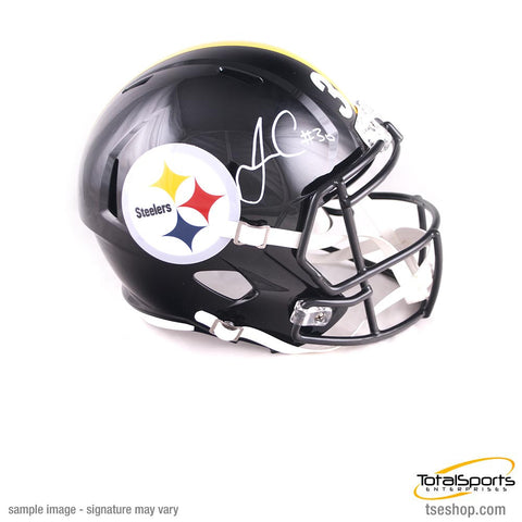 James Conner Autographed Pittsburgh Steelers Full Sized SPEED Replica Helmet