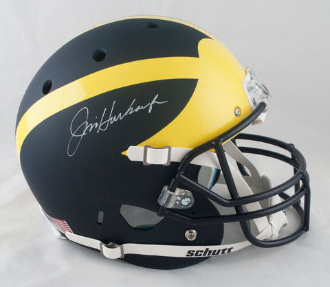 Jim Harbaugh Autographed Replica Schutt Michigan Wolverines Helmet