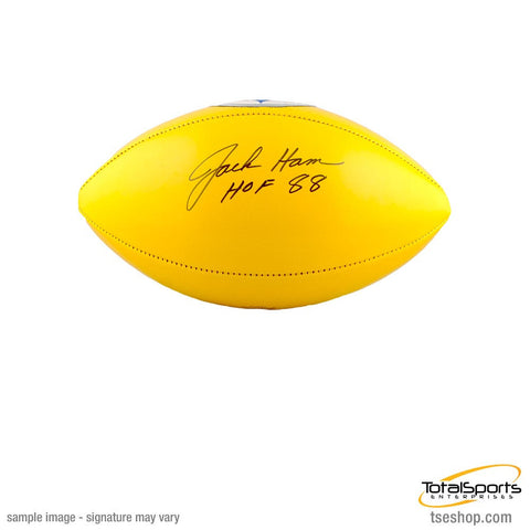 Jack Ham Autographed Yellow Steelers Logo Football