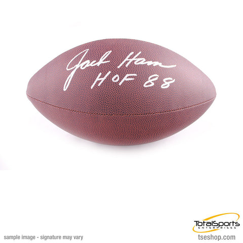 Jack Ham Autographed Replica NFL Football with HOF 88
