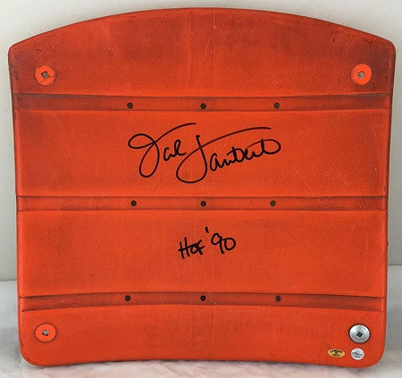"Jack Lambert Authentic Signed 3 Rivers Stadium Seat with ""HOF 90"" - Yellow"