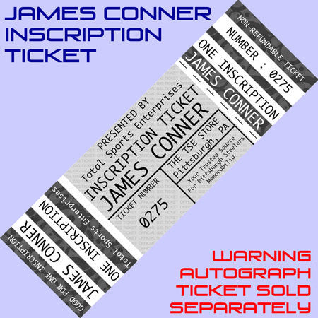 INSCRIPTION-TICKET: Good For One Custom Inscription by James Conner (Autograph Ticket Sold Separately)