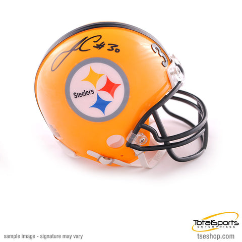 James Conner Autographed Pittsburgh Steelers 75th Anniversary Mini Helmet