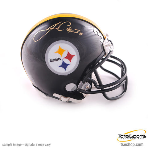 James Conner Autographed Pittsburgh Steelers Black Mini Helmet