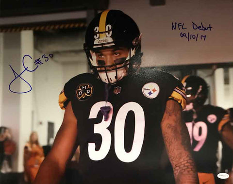 James Conner Autographed Steelers 1st Game Entrance 16x20 Photo with
