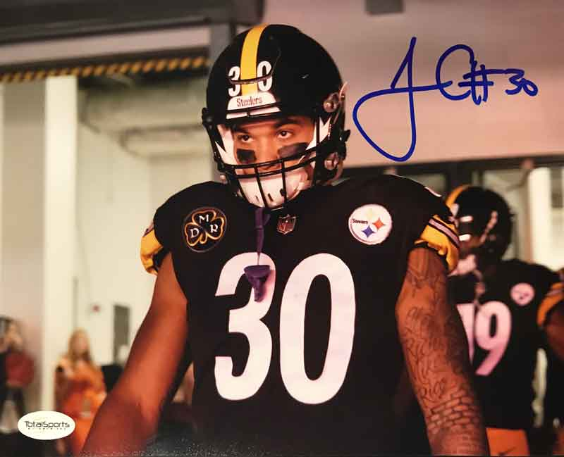 James Conner Autographed Steelers 1st Game Entrance 8x10 Photo