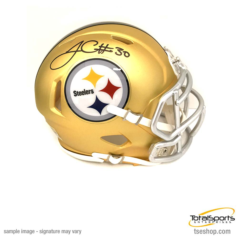 James Conner Autographed Pittsburgh Steelers BLAZE Mini Helmet
