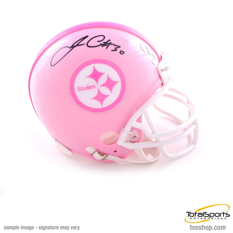 James Conner Autographed Pittsburgh Steelers Pink Mini Helmet