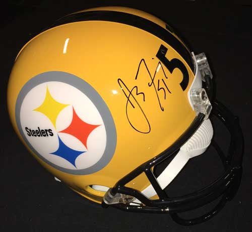 James Farrior Autographed Full Size Replica 75th Anniversary Helmet