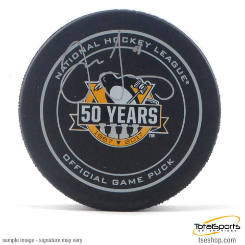 Jaromir Jagr Autographed 50th Anniversary Game Model Puck
