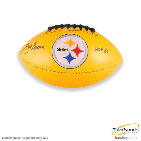 Joe Greene Autographed Yellow Football with HOF '87