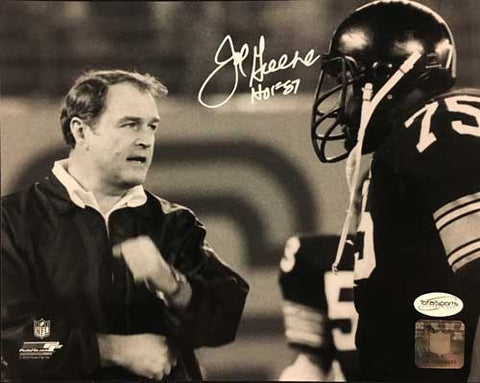 Joe Greene SIGNED Talking with Coach Noll 16x20 Photo with
