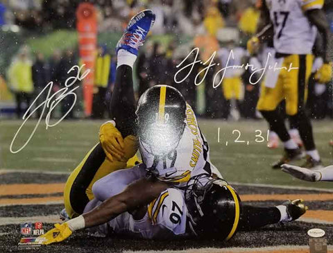 Le'Veon Bell and JuJu Smith-Schuster Dual Signed