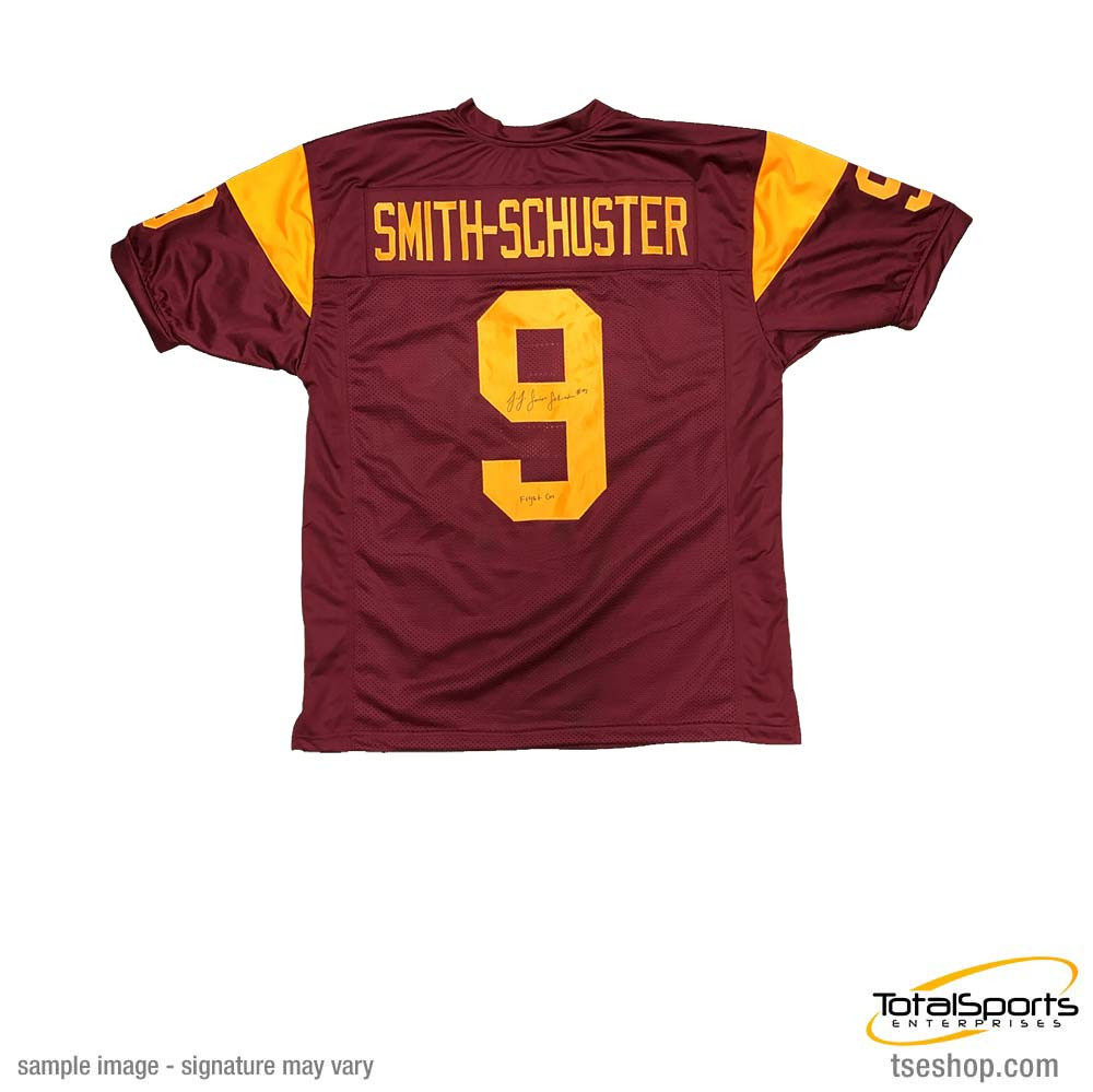 "JuJu Smith-Schuster Signed Custom Cardinal College Jersey with ""Fight On"""