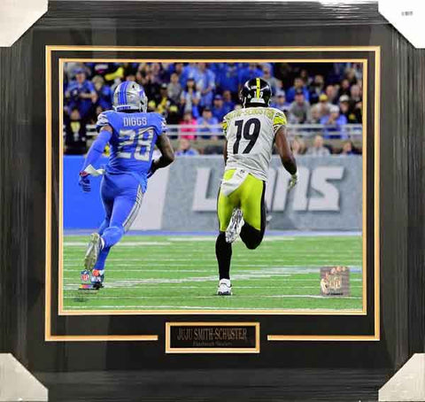 0a188cfd5ee JuJu Smith Schuster UNSIGNED Professionally Framed Lions TD 8x10 Photo