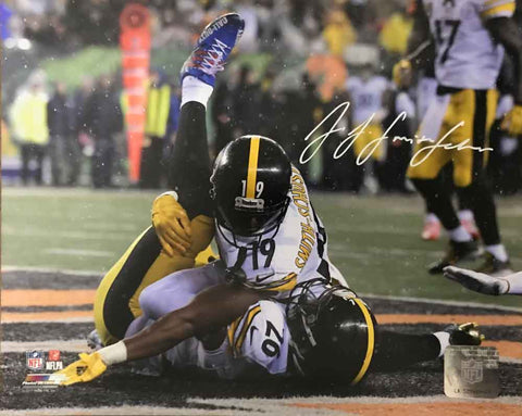 JuJu Smith-Schuster Signed Pinning Bell 8x10 Photo