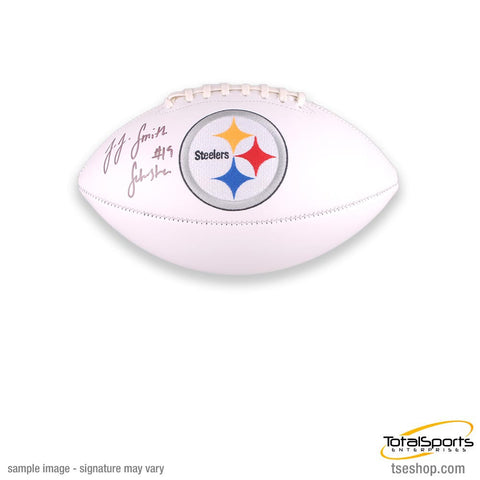 ef2d59a7 JuJu Smith-Schuster Signed Pittsburgh Steelers White Logo Football