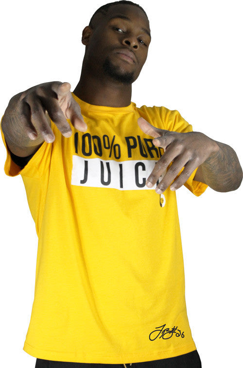 LeVeon Bell LB26 100% Pure Juice Gold Tee