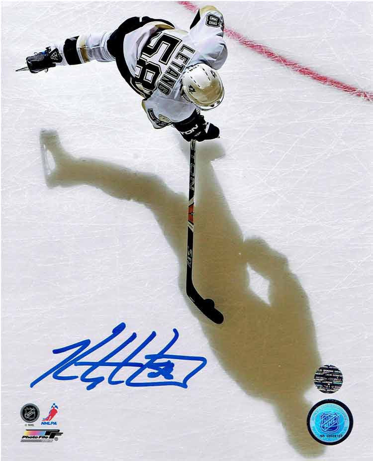 Kris Letang Overhead Shadow 16x20 Photo Signed