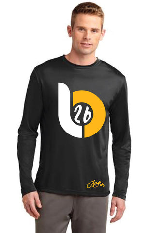 Le'Veon Bell 'LB26' Big Logo Black Long Sleeve Tee