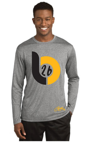 Le'Veon Bell 'LB26' Big Logo Heather Gray Long Sleeve Tee
