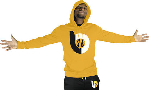 Le'Veon Bell 'LB26' Logo Gold Hoodie