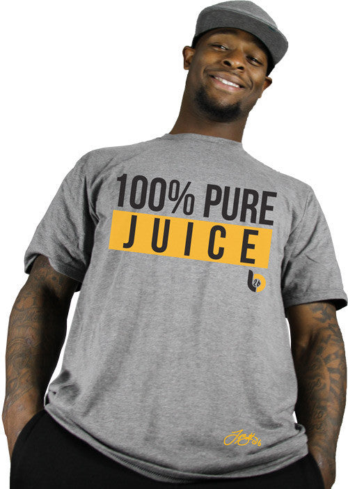 LeVeon Bell LB26 100% Pure Juice Heather Gray Tee