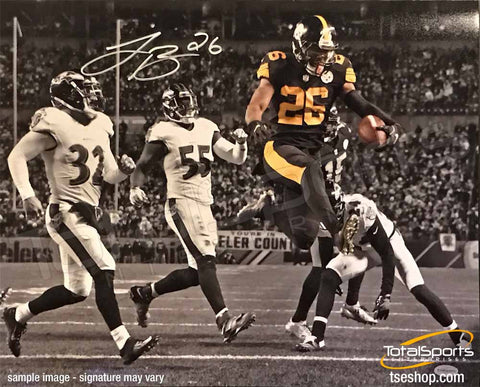 Le'Veon Bell Autographed Color Rush Spotlight 16x20
