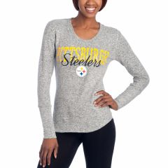 Ladies' Steelers Reprise Knit Long Sleeve Top