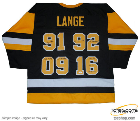 Mike Lange Autographed Custom Jersey with 3 Inscriptions