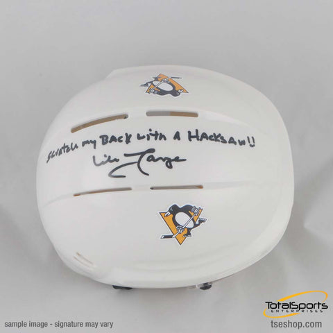 Mike Lange Autographed White Mini Helmet with