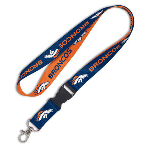 Broncos (Blue/Orange) Reversible Lanyard