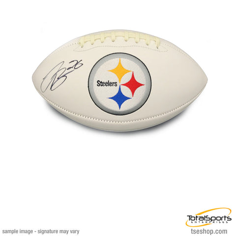 Le'Veon Bell Signed Steeler White Logo Football