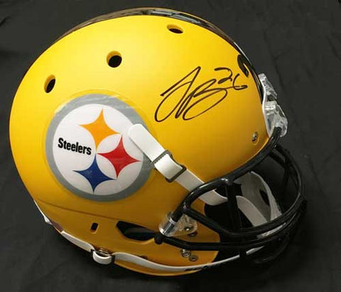 Le'Veon Bell Autographed Replica Yellow SCHUTT Helmet with Matte Finish