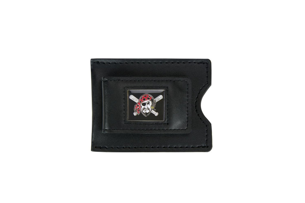 Pirates Leather Money Clip with Jolly Roger