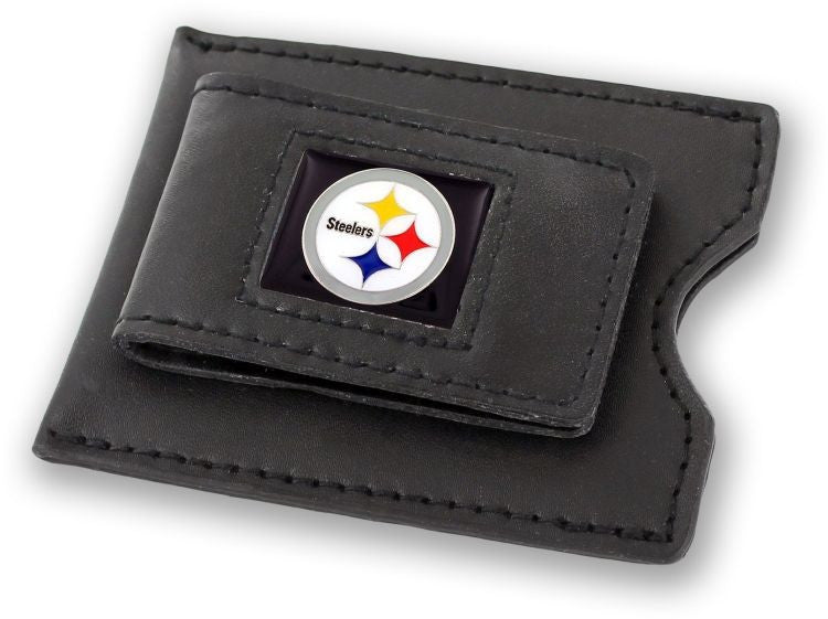 Steelers Leather Money Clip