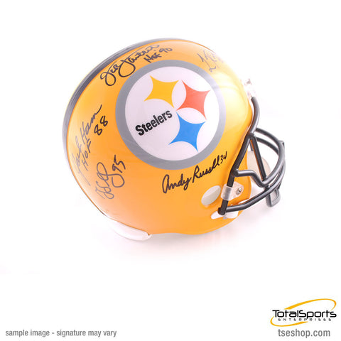 Pittsburgh Steeler Linebacker Legends Signed 75th Anniversary FS Helmet