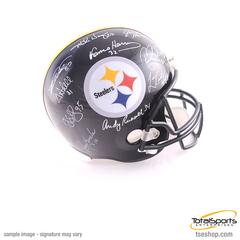 Pittsburgh Steeler Legends Signed Black FS Helmet